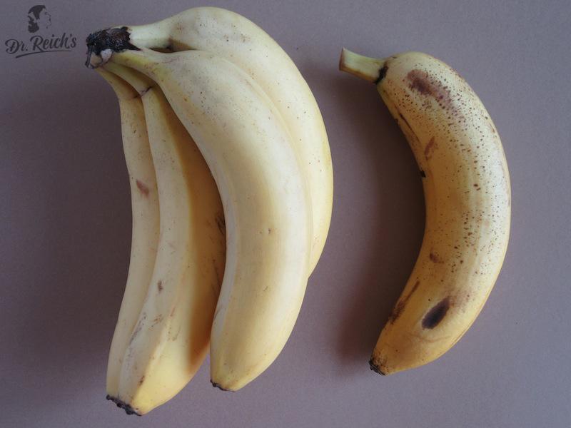 Fragen zu Reizdarm: Reifegrad von Bananen, je reifer, umso besser verdaulich
