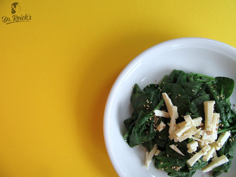 FODMAP Reizdarm bewusst vegetarisch laktosefrei Dr Reichs Sesam Muskat Spinat wirkt Verdauungsbeschwerden entgegen