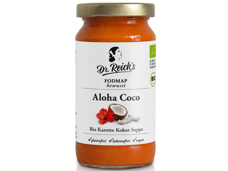 Weltneuheit FODMAP bewusst Bio Dr Reichs Aloha Coco Suppe