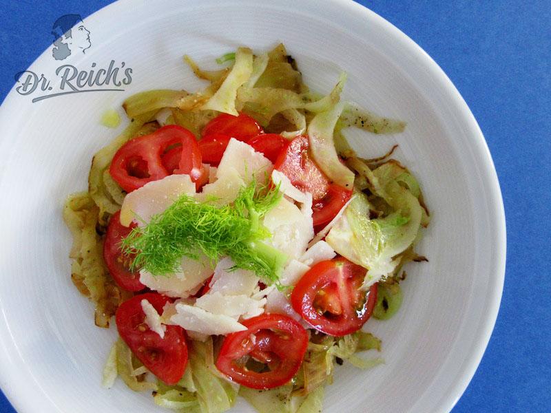 no carb, low carb – Dr Reichs gegrillter Fenchelsalat als Abendessen