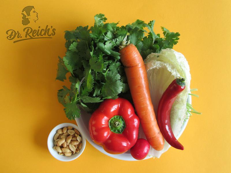 Fodmap Pausenbrot - die Zutaten. Lassen Sie sich eifach von den Resten in Ihrem Gemüsefach inspirieren!