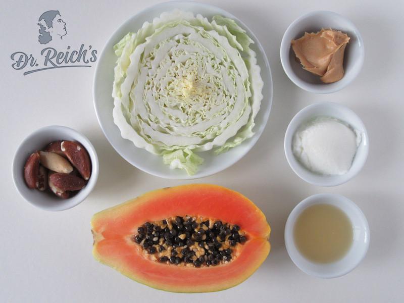 Fodmap Rezept Low Carb Dr Reichs Papaya Salat Zutaten