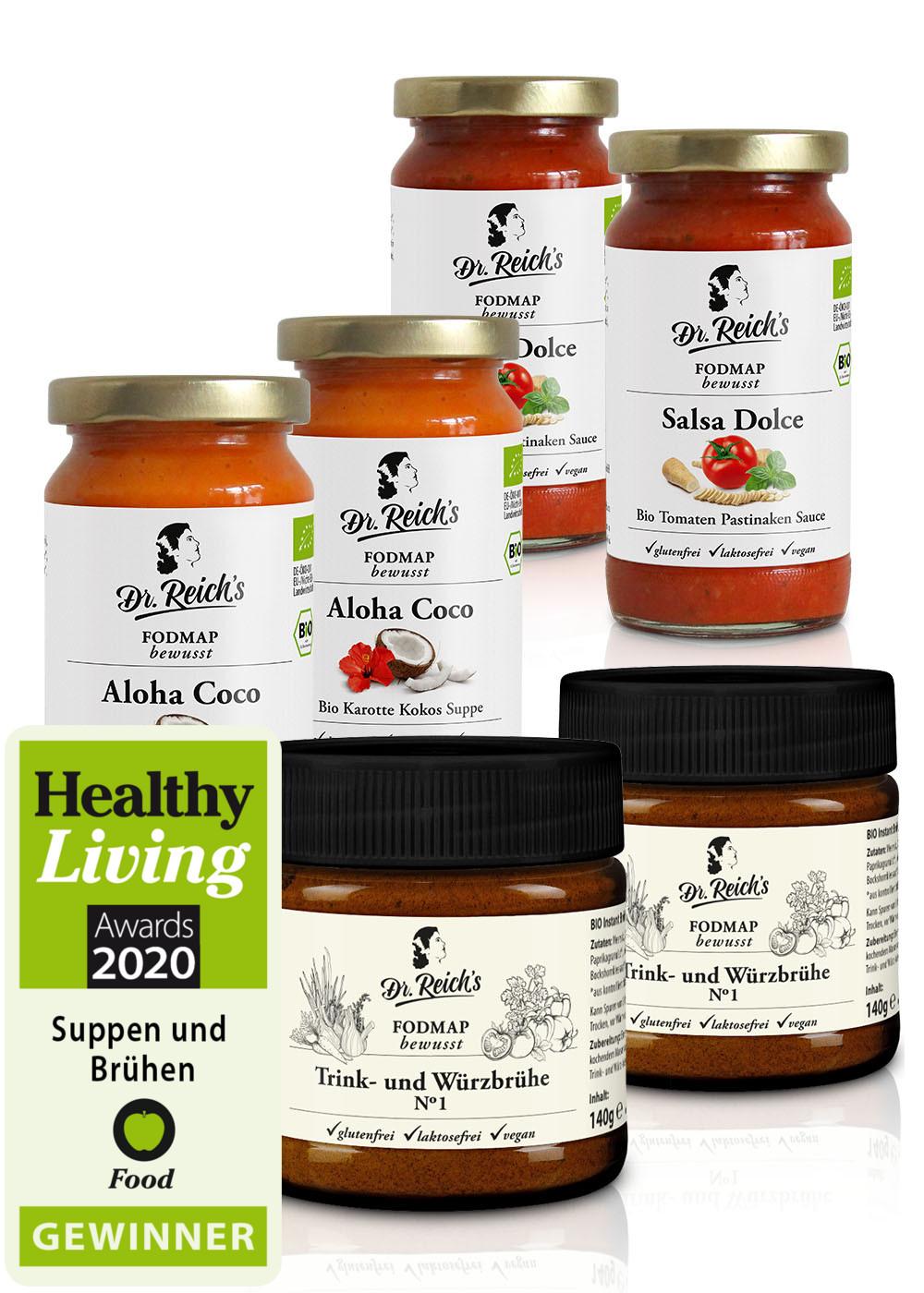 Dr Reichs FODMAP vegan Gourmet Bio Box