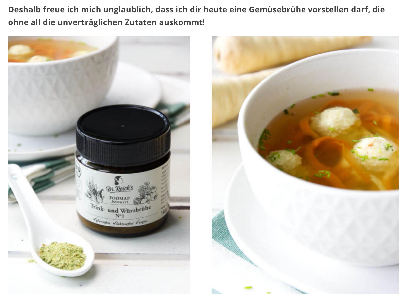 Dr Reichs Trink und Würzbrühe im Blog Weglasserei