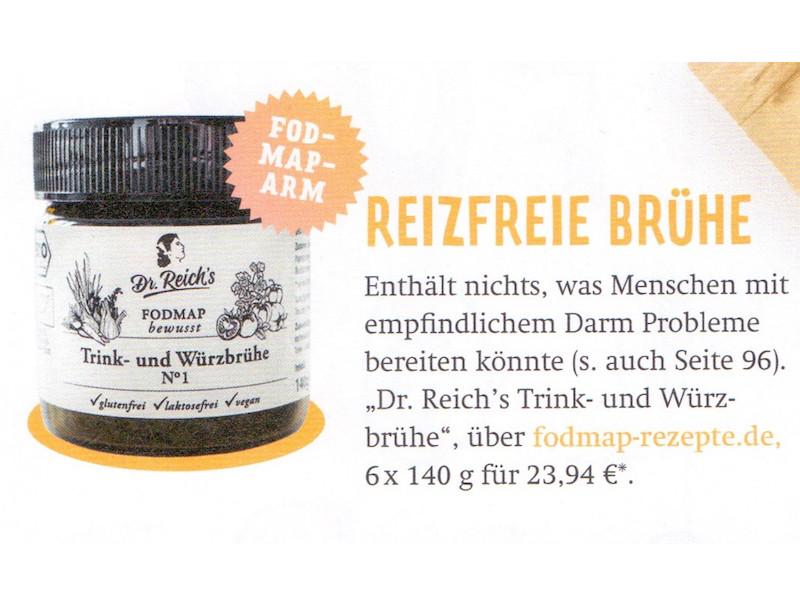 Dr Reichs Trink- und Würzbrühe Nummer Eins im Lecker Healthy Special