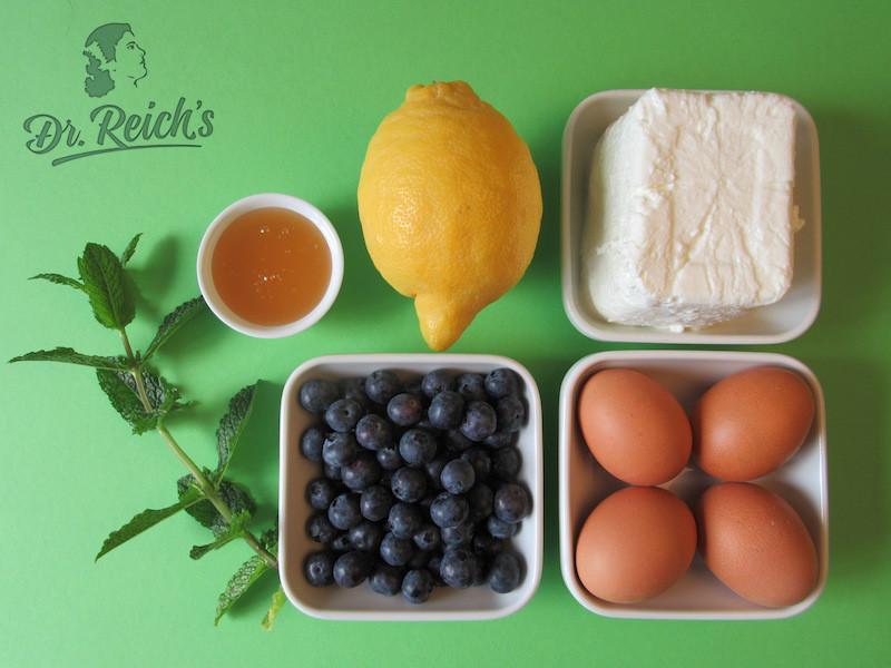 DrReichs Fodmap Kuchen ohne Mehl - die Zutaten, glutenfrei, laktosefrei, fettarm und zuckerarm