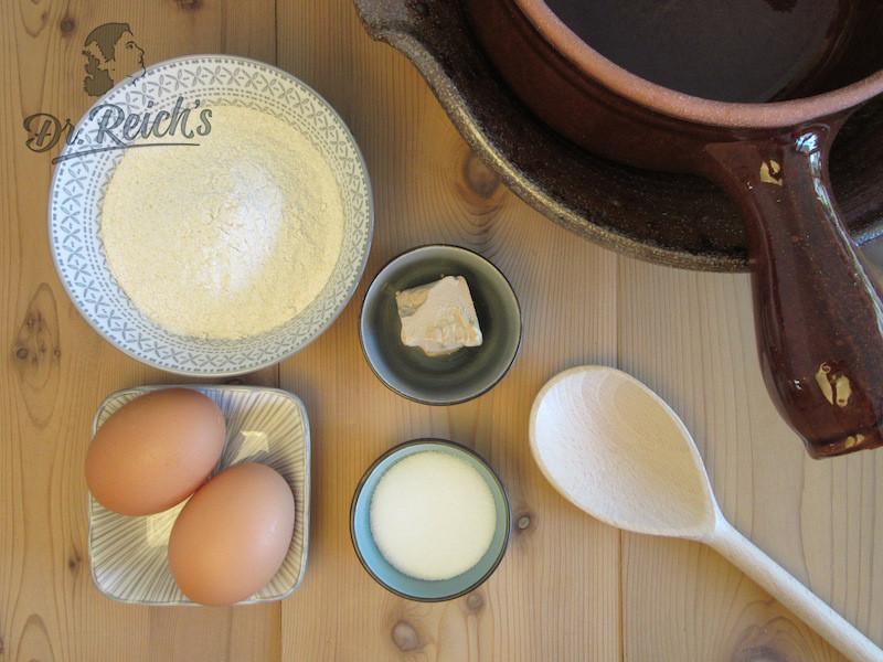 DrReichs FODMAP Pfannkuchen die Zutaten