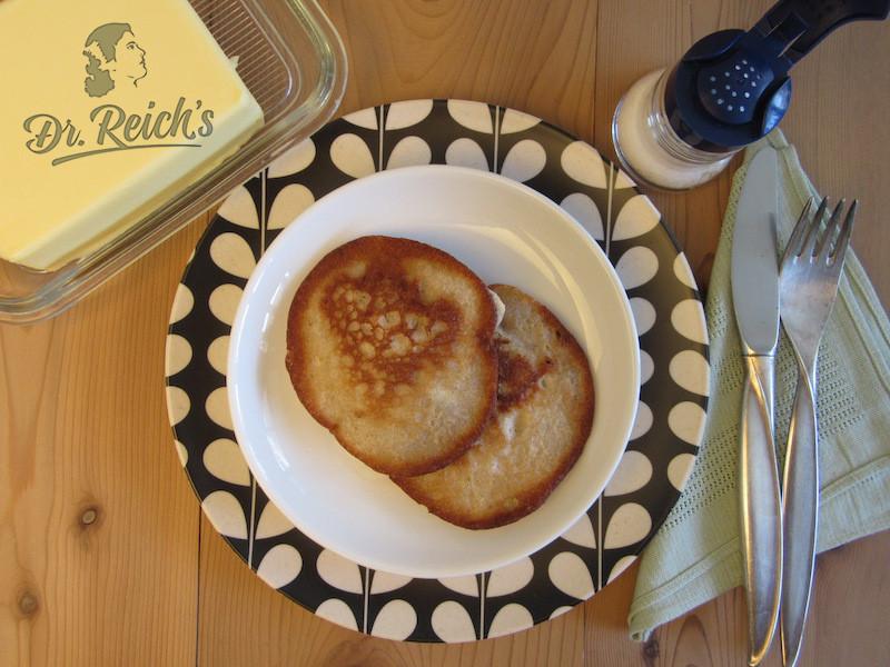 Dr Reichs FODMAP Pfannkuchen pur mit Butter für Puristen