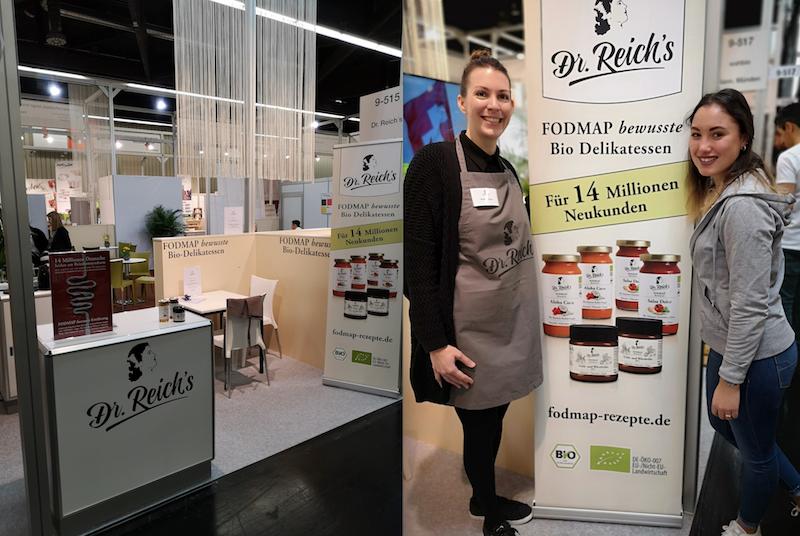 Dr Reichs FODMAP bewusste Bio Delikatessen auf dem Gemeinschaftsstand Junge Innovative der BioFach 2019