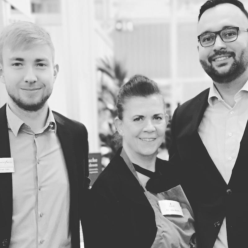Christine Reich von Dr Reichs Family GmbH mit dem Messeteam der BioFach von der Messe Nürnberg
