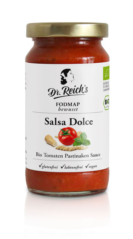 Dr Reichs FODMAP Salsa Dolce Tomaten Pastinaken Sauce