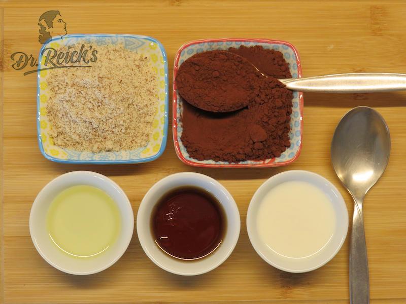 Ernährung bei Reizdarm leicht gemacht - die Zutaten für Dr Reichs Minuten Schoko Cupcaker