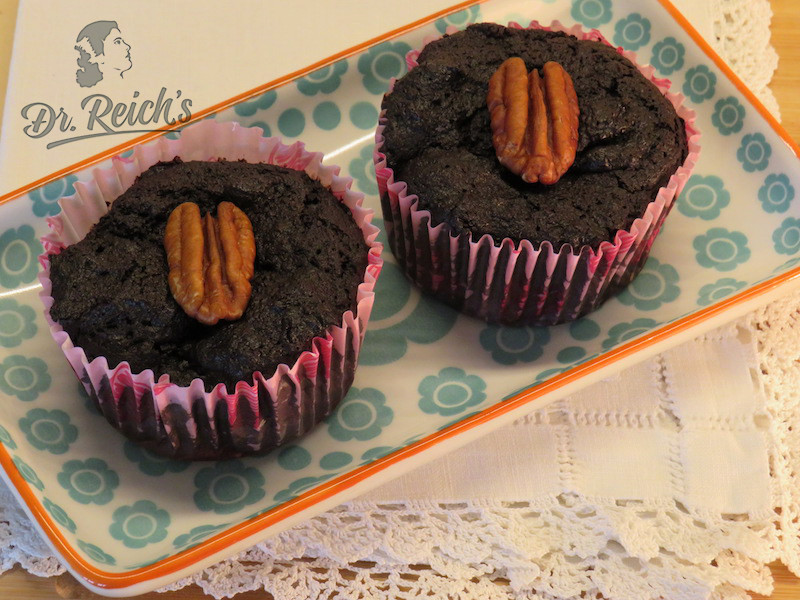 Ernährung bei Reizdarm leicht gemacht - Dr Reichs Low FODMAP Schoko Cupcake