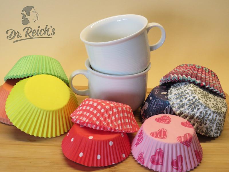 Ernährung bei Reizdarm leicht gemacht - Dr Reichs Förmchen für die FODMAP Schoko Cupcakes