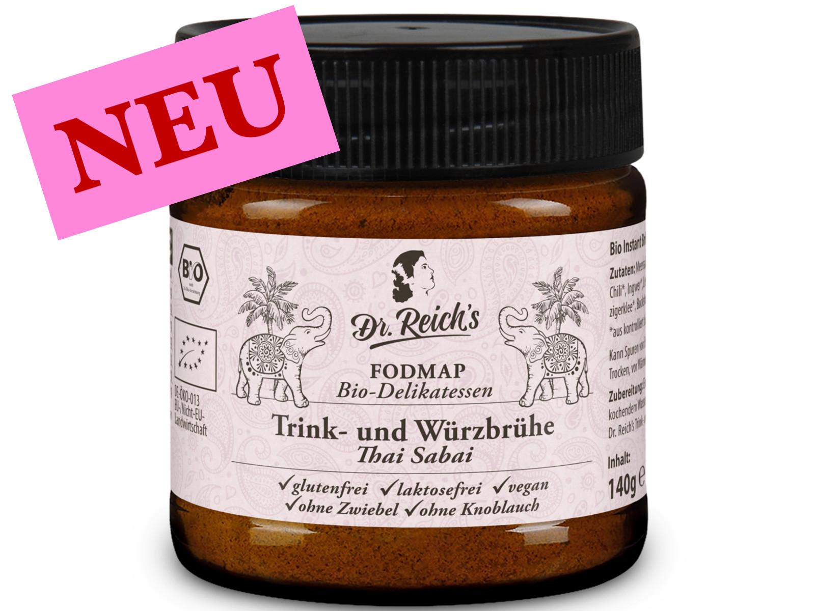 Dr Reichs vegane FREI VON Thai Sabai FODMAP Brühe