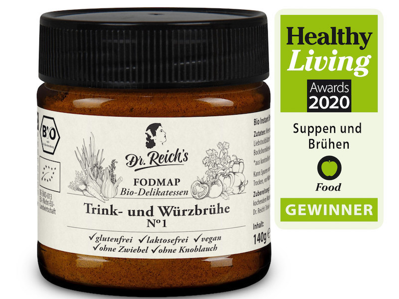 FODMAP Diät Dr Reichs HEALTHY LVING AWARD Winner Brühe No. 1