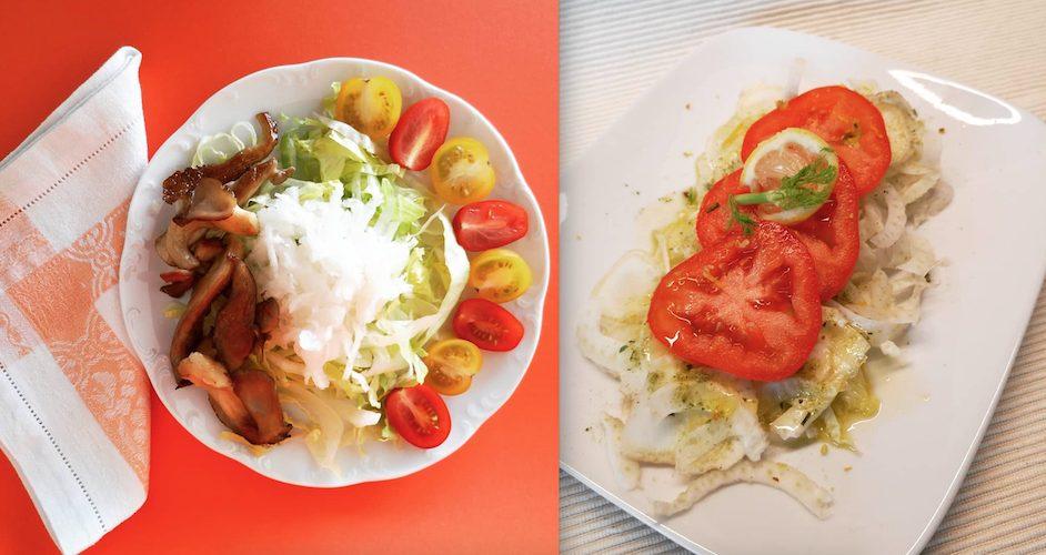 FODMAP Diät Salat mit Austernpilzen und mit Fenchel