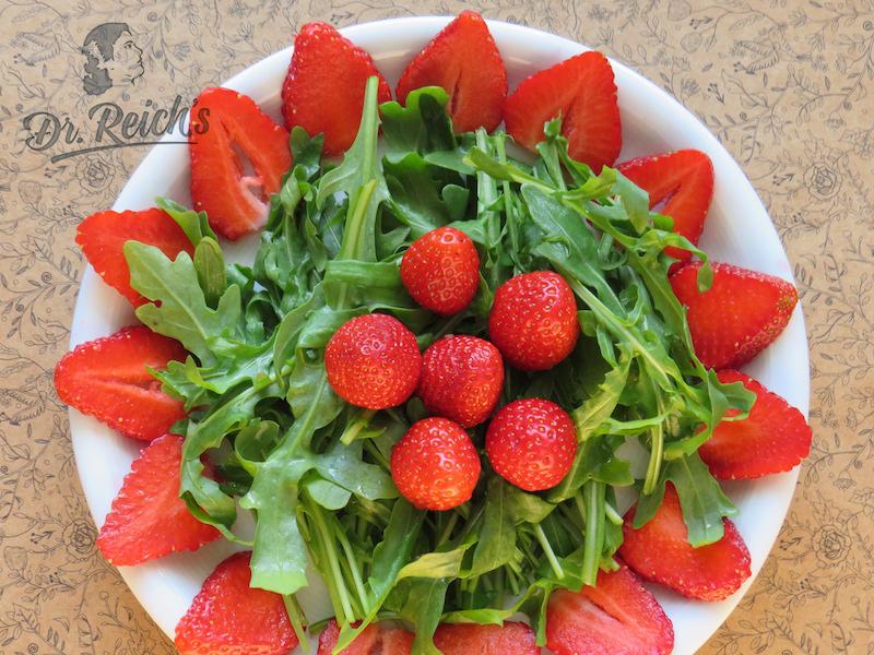 FODMAP Diät Dr. Reich´s Erdbeer Rucoal Salat