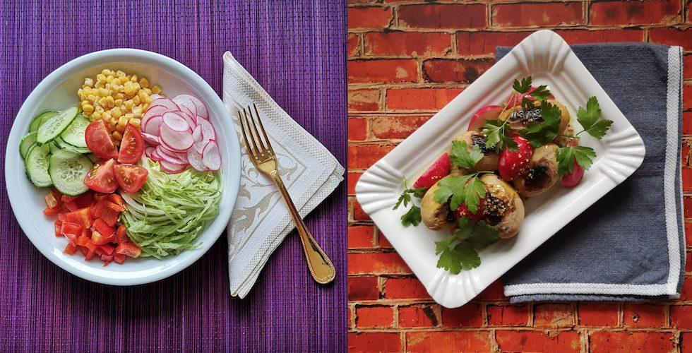 Ob rohes Gemüse oder gegrillte Kartoffeln - Ihrer Fantasie für einen guten FODMAP Diät Salat sind so gut wie keine Grenzen gesetzt.