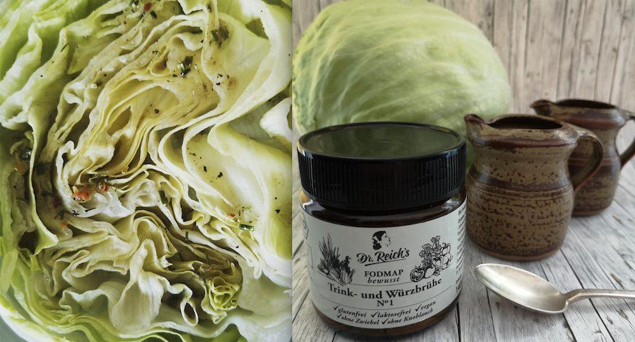 Dr. Reich´s FODMAP Salat Saucen Rezept von Dr. Reich´s: 1 Teil Essig, 2 Teile Öl, 1 Teelöffel Dr. Reich´s Brühe No. 1