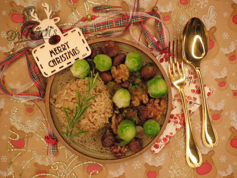 Weihnachten mit FODMAP - Dr. Reich´s Hauptspeise weihnachtlich dekoriert
