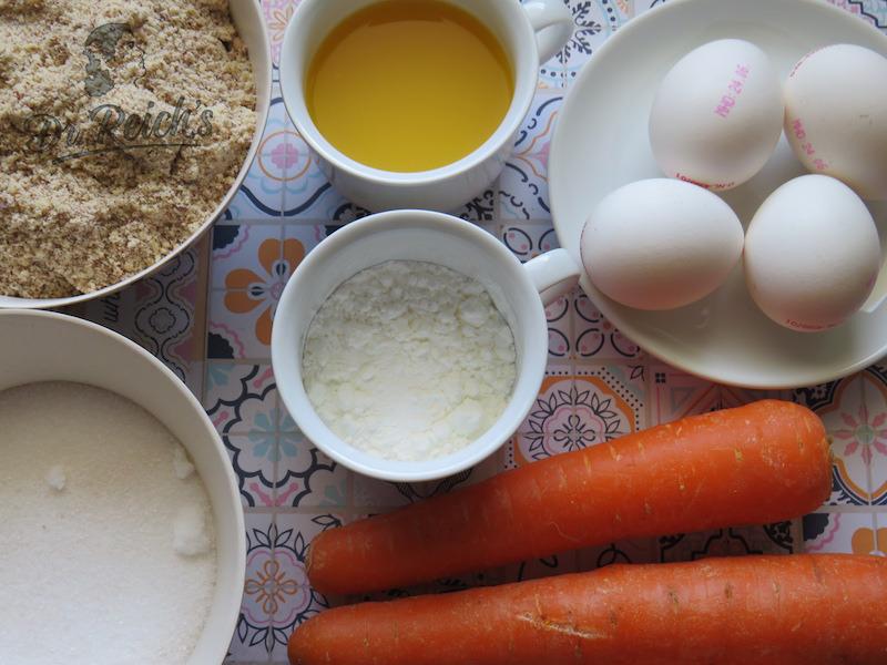 Kein Mehl, dafür Nüsse und Rübli - Dr. Reich´s Zutaten mit Orange statt Zitrone