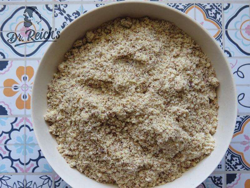 FODMAP Kuchen ohne Mehl - gemahlene Nüsse ersetzen das Mehl