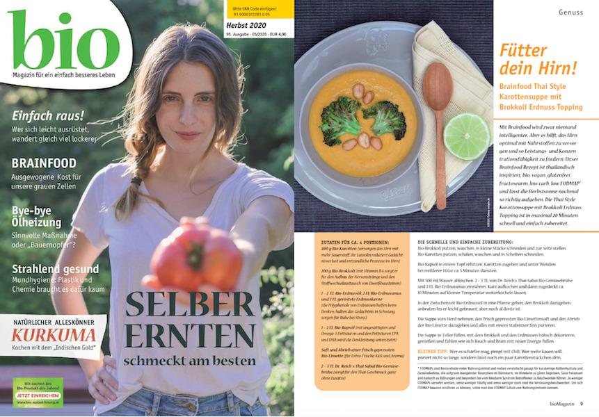 Dr. Reich´s Erdnuss Suppen Rezept im Biomagazin