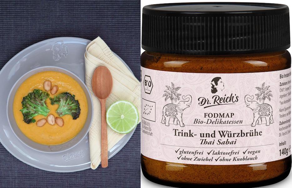 Dr. Reich´s Erdnuss Suppe wird mit Dr. Reich´s Thai Sabai zubereitet